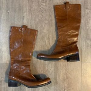 Nine West Shoes - Nine West Leather Brown Tan Tall Boots Women's 9